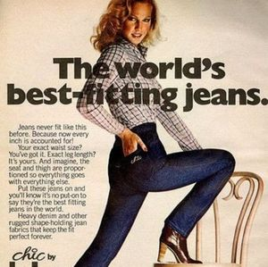 VINTAGE CHIC HIGH WAISTED JEANS